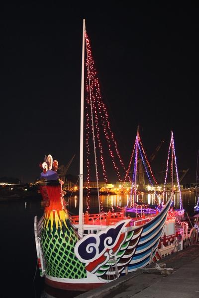 マリンゲート塩釜のヨットのイルミネーション・宮城県塩竈市・画像・与平仙台人が仙台観光をしてるブログ