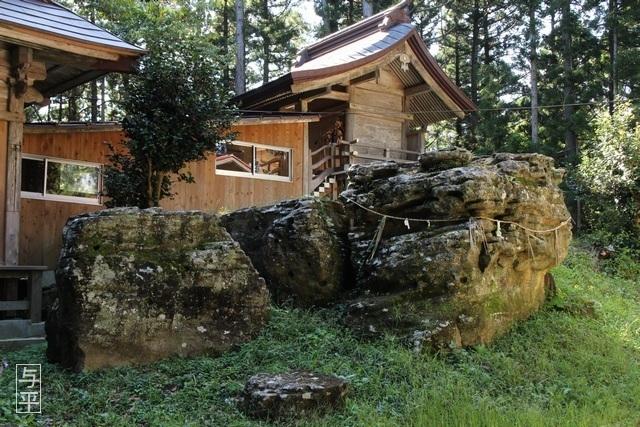 15 96 鹿島天足別神社(大亀明神)、亀石、宮城県大郷町、大亀山森林公園、画像.jpg