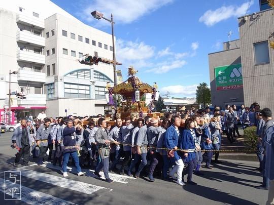 二柱神社、神輿渡御、宮城県仙台市泉区、画像、仙台人が仙台観光をしてるブログ、与平