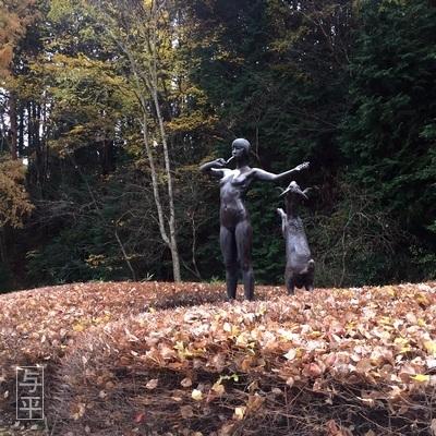 01 94 岩野勇三、牧歌、ブロンズ像、台原森林公園、宮城県仙台市、画像.jpg